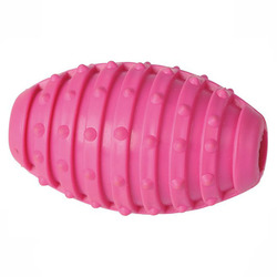 ГрызликАМ Мяч регби с шипами 10 см, розовый, арт.008