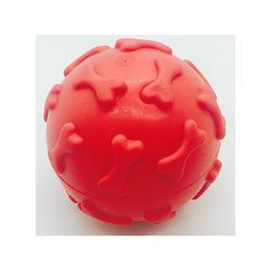 ГрызликАМ Мяч с косточками 6,5 см, красный, арт.013