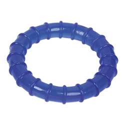 ГрызликАМ Кольцо ребристое Dental Размер 13,5 см, Цвет Синий, арт.027