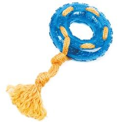 ГрызликАМ Кольцо с веревкой Durable Rope Silent Размер 24 см, Цвет Голубой, арт.031