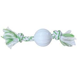 CanineClean игрушка для собак Канат 25 см с нейлоновым мячом с ароматом мяты