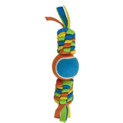 Petpark игрушка для собак Плетенка с теннисным мячом и петлей 8 см, длина 37 см.