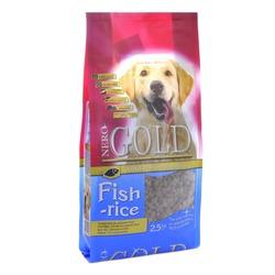 NERO GOLD super premium для взрослых собак рыбный коктейль, рис и овощи