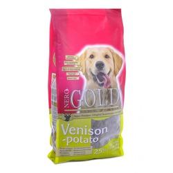 NERO GOLD super premium взрослых собак c олениной и сладким картофелем