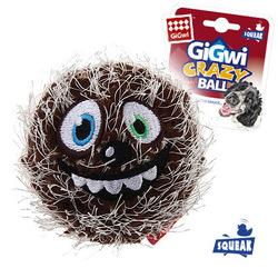 Gigwi Crazy ball Теннисный мяч с пищалкой, коричневый 7 см арт.75343