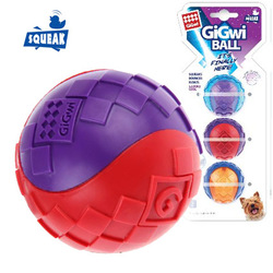 Gigwi G-BALL 3 мяча с пищалкой, 5 см, арт. 75326