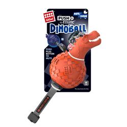 Gigwi Игрушка Динобол Т-рекс с отключаемой пищалкой,оранжевый, 13 см арт.75412