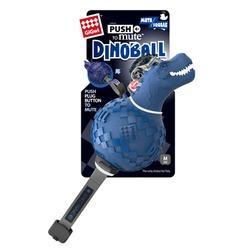 Gigwi Игрушка Динобол Т-рекс с отключаемой пищалкой,синий, 13 см арт.75417