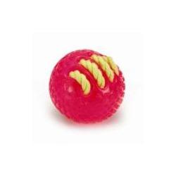 """IPTS Игрушка """"Мяч с вшитой веревкой"""" розовый, 8см"""
