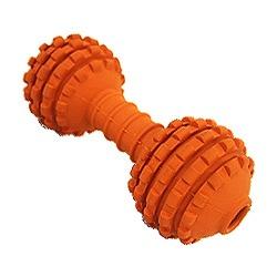 J.W. игрушка для собак Гантель с шипами, каучук, 20 см.