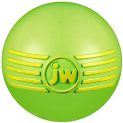 J.W. игрушка для собак Мяч с пищалкой, каучук