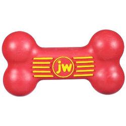 J.W. игрушка для собак Косточка с пищалкой, каучук