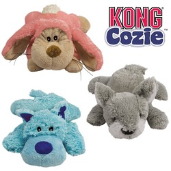 "Kong игрушка Cozie ""Кози Натура"" (в ассортименте: волк, коала, кролик)"