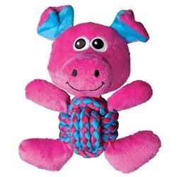 Kong Weave Knots игрушка для собак Свинка 22 х 20 см