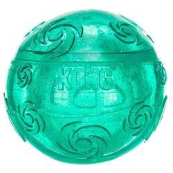 Kong Squezz Crackle хрустящий мячик большой, размер 7 см