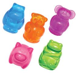 Kong Squeezz Jels игрушка-зверюшка (в ассортименте: медведь, бегемот, слон, свинка, лягушка)