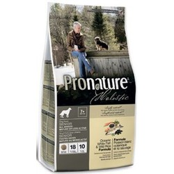 Pronature Холистик беззерновой, облегченный, для пожилых и малоактивных собак всех пород Океаническая белая рыба с диким рисом, 2.72 кг