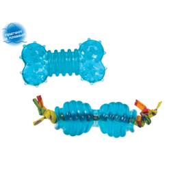 """Pet Stages набор из двух игрушек для собак мелких пород """"ОРКА косточка+гантеля"""" 7 см ультра-мини"""