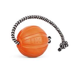 Мяч Collar Liker Cord с канатом, оранжевый 5 см.