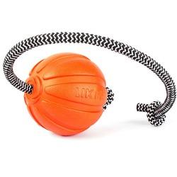 Мяч Collar Liker Cord с канатом, оранжевый 9 см.