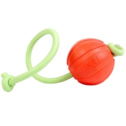 Мяч Collar Liker Lumi со светящимся канатом, оранжевый 7 см.