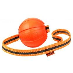 Мяч Collar Liker Line с лентой, оранжевый 9 см.