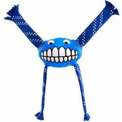 Rogz Fllossy Grinz резиновая игрушка с канатами, с пищалкой, цвет синий