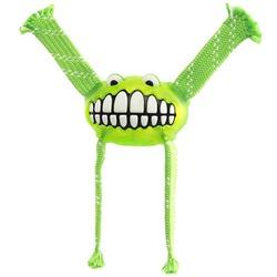Rogz Fllossy Grinz резиновая игрушка с канатами, с пищалкой, цвет салатовый