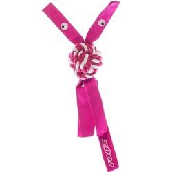 Rogz канатная игрушка с пищалкой для собак COWBOYZ, цвет розовый
