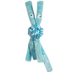 Rogz канатная игрушка с пищалкой для щенков COWBOYZ, цвет голубой
