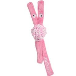 Rogz канатная игрушка с пищалкой для щенков COWBOYZ, цвет розовый