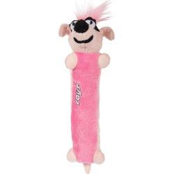 Rogz мягкая игрушка с пищалкой для щенков Sausage, цвет розовый