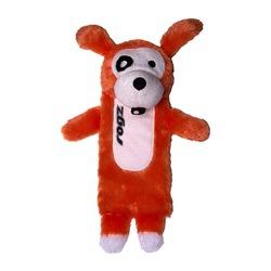 Rogz Thinz плюшевая собачка с пищалкой, цвет оранжевый