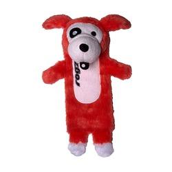 Rogz Thinz плюшевая собачка с пищалкой, цвет красный