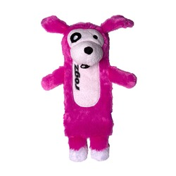 Rogz Thinz плюшевая собачка с пищалкой, цвет розовый