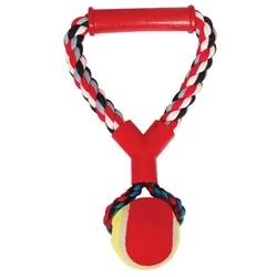 """Triol """"Верёвка с ручкой, мяч"""" Игрушка для собак, 25 см, арт.0105XJ"""