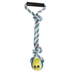 """Triol """"Верёвка с ручкой, 2 узла и мяч"""" Игрушка для собак, 43 см, арт.0109XJ"""