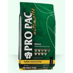 Pro Pac Ultimates Mature для пожилых собак курица с коричневым рисом.