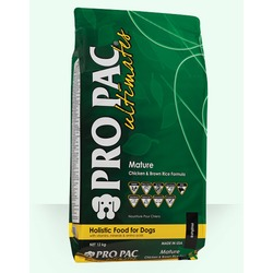 Pro Pac Ultimates Mature сухой корм для пожилых собак курица с коричневым рисом.
