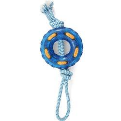 """Triol Игрушка для собак из термопласт. резины """"Кольцо с верёвкой"""", кольцо 12 см, веревка 32 см, арт.TPR13"""