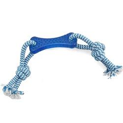 """Triol Игрушка для собак из термопласт. резины """"Кость с верёвкой"""", кость 8,5 см, веревка 28 см, арт.TPR14"""