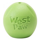 West Paw игрушка для собак мячик Zogoflex Rando, цвет салатовый