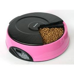 Feedex автокормушка на 4 кормления с ЖК дисплеем, розовая