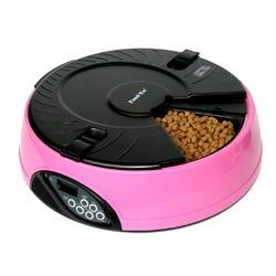 Feedex автокормушка на 6 кормлений с ЖК дисплеем, розовая