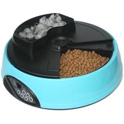 Feedex автокормушка на 4 кормления с емкостью для льда с ЖК дисплеем, голубая