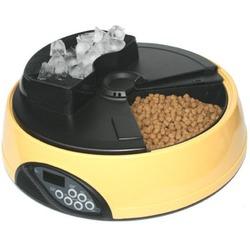 Feedex автокормушка на 4 кормления с емкостью для льда с ЖК дисплеем, желтая