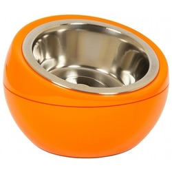 Hing миска на подставке «Шар», 350 мл, цвет оранжевый