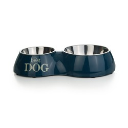 IPTS миска двойная Best Dog, зеленая