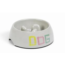 IPTS Миска для собак с ограничителем, меламин серая
