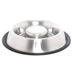 Papillon миска для медленного питания из нержавеющей стали с нескользящим покрытием, Slow feeder non skid bowl